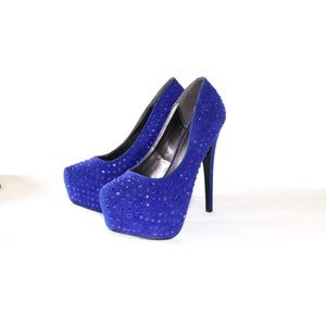 Forever Studded 21 Blue Blue 21 Blue Stilettos Stilettos Forever Studded 0w8mnNv